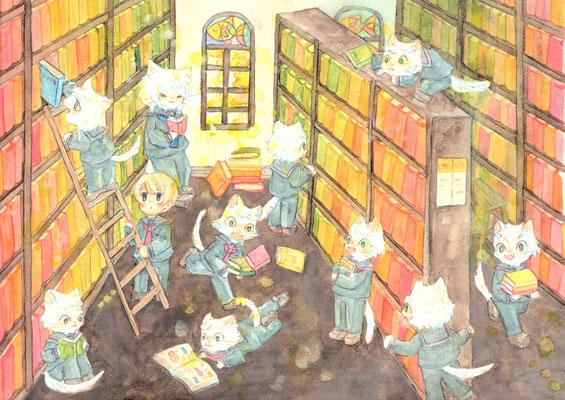 ēcole de ange  の秋色図書館