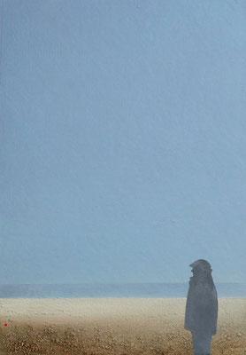 Der Träumer, Acryl auf Leinwand auf Faserplatte, 50x40cm