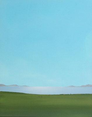 Küste, Acryl, auf Leinwand auf Faserplatte, 50x40cm