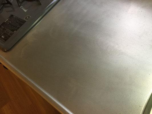 キッチンクリーニング ステンレスの作業台 洗浄後