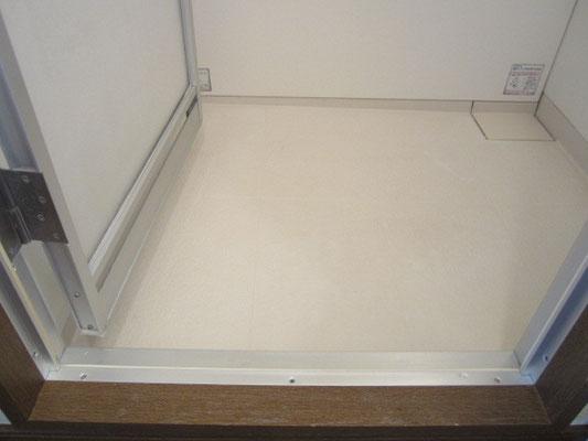 お風呂場のドアのカビ及びカルキ汚れの除去後