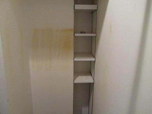 壁紙の経年的な汚れ