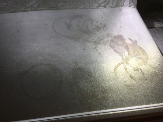 キッチンクリーニング ステンレスの作業台 洗浄前