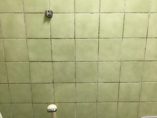 浴室タイル除菌洗浄 洗浄前