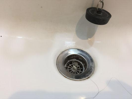 洗面台クリーニング 洗浄前