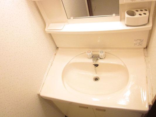 洗面台のお掃除