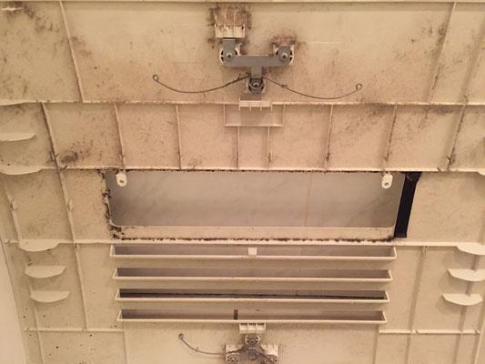 バスルームクリーニング 浴室乾燥機付き換気扇 洗浄前