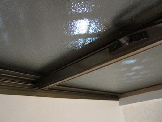 ガラスサッシ清掃 溝ホコリ除去洗浄 ガラスサッシ・網戸クリーニング