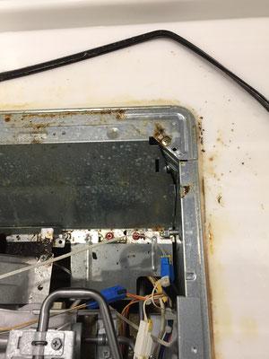 ガスコンロクリーニング 洗浄前