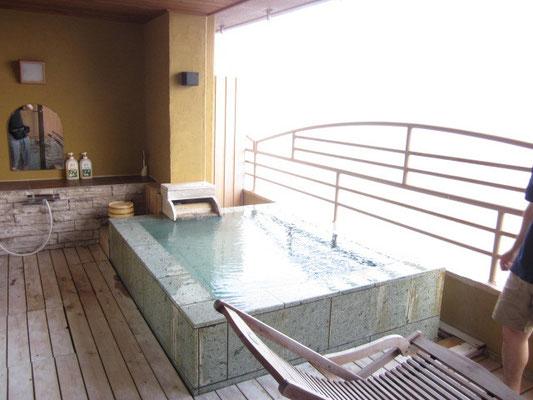 北川温泉の露天風呂