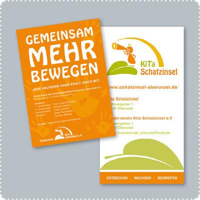 Plakat und Rollup für den Förderverein Kita Schatzinsel