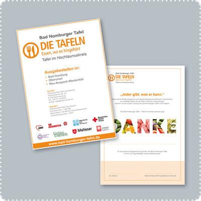 Plakat und Urkunde für die Bad Homburger Tafel