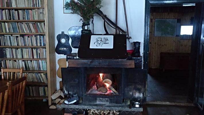 in einer polnischen Hütte