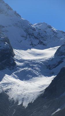 und Gletscher grüßen mit kaltem Hauch