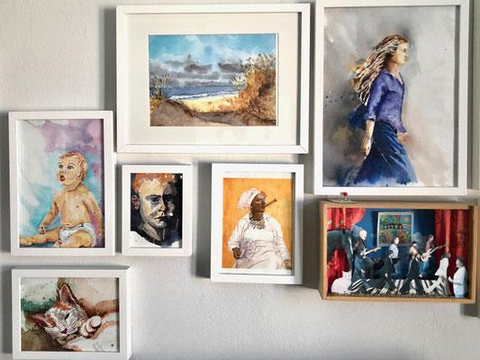 Seit ihrem 14ten Lebensjahr widmet Susanne sich der Malerei.