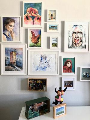 Susanne malt vorwiegend mit Aquarellfarben..