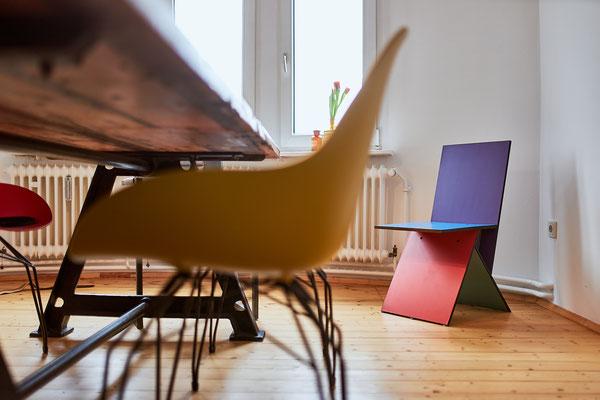 """Den Stuhl """"Vilbert"""" entwarf Verner Panton 1993 für IKEA."""