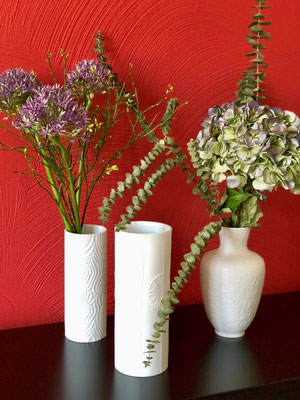 Bisquitporzellan-Vasen aus dem Vintagestore