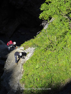 Klettersteig in der Galitzenklamm