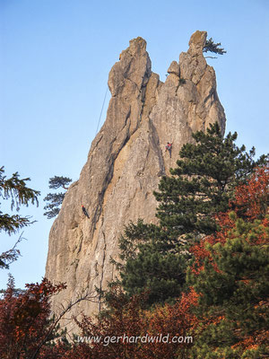 Kletterer am Peilstein