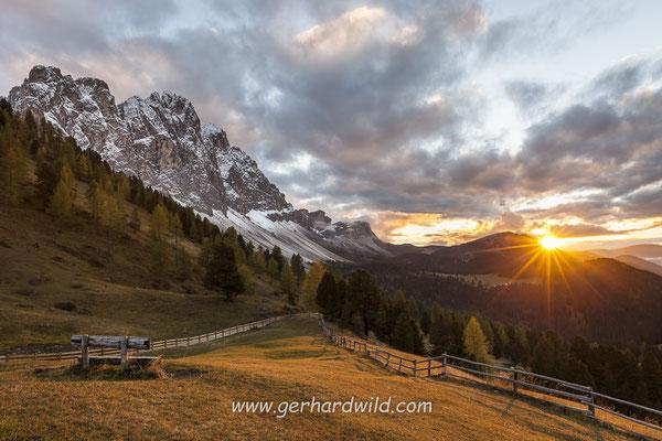 Geislergruppe, Naturpark Puez-Geisler, Dolomiten, Villnößtal