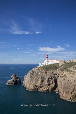 Leuchtturm am Kap von Sao Vicente, Portugal