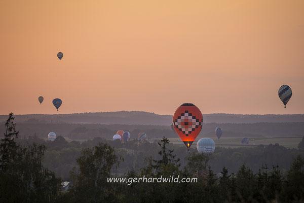 Heißluftballon Weltmeisterschaft 2018, Groß-Siegharts, Waldviertel, Niederösterreich, Österreich