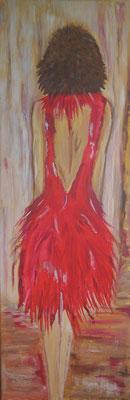 """""""Frau mit Herz""""  30 x 90 cm"""