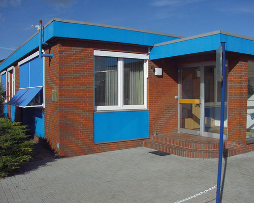Verwaltungsgebäude Eingang
