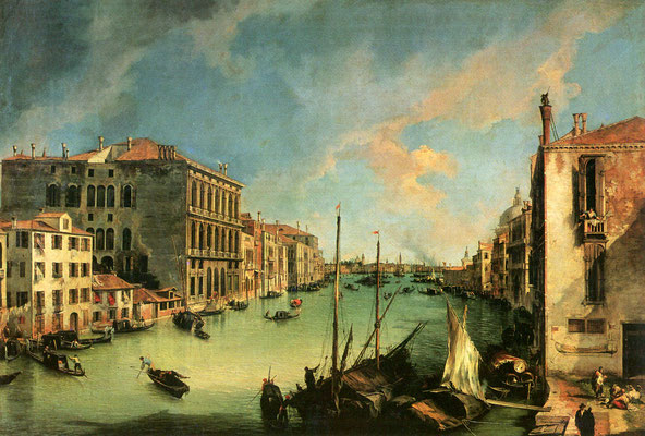 Canaletto, Veduta del canal Grande da Campo San Vio