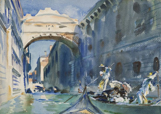 John Singer Sargent, The bridge of Sighs