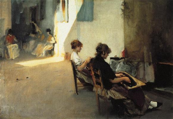 John Singer Sargent, Venetian Bead Stringers (1882)