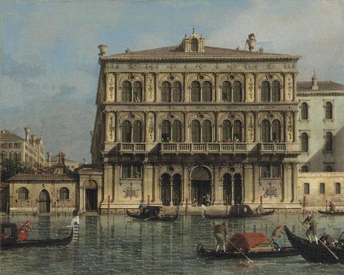 Canaletto, Palazzo Vendramin Calergi sul Canal Grande