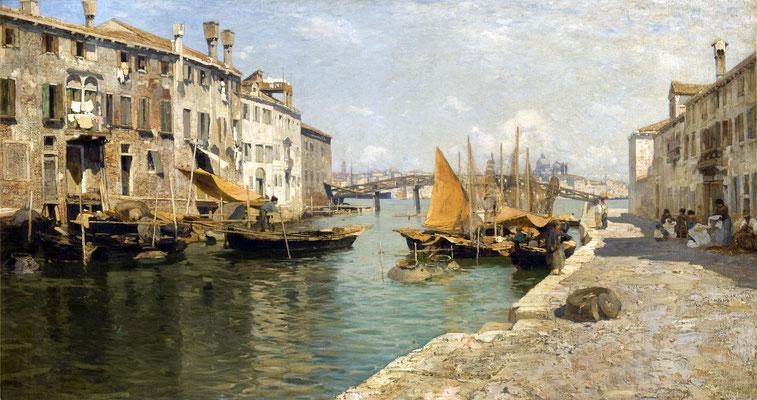Guglielmo Ciardi, Fondamenta delle Zitelle (1892)