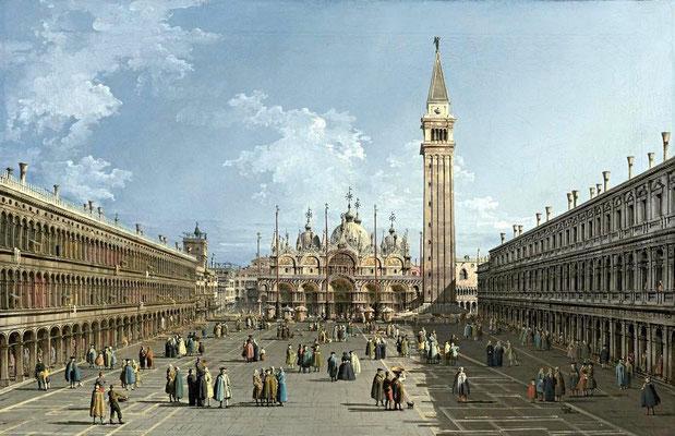 Bernardo Bellotto, Piazza San Marco (c.1737)