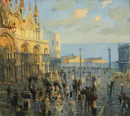 Ettore Tito, Piazza San Marco