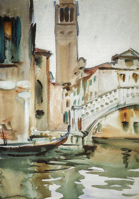 John Singer Sargent, Bridge and Campanile in Venice