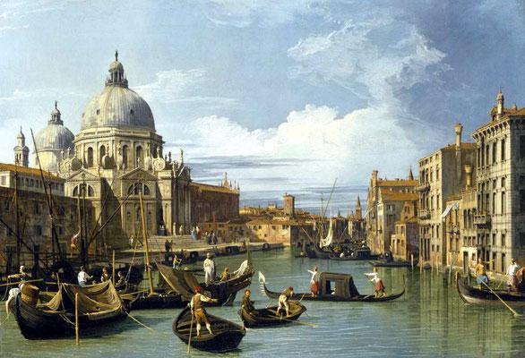 Canaletto, Il Canal Grande con la Chiesa della Salute