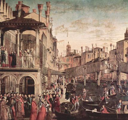Vittore Carpaccio, Il miracolo della reliquia della vera croce sul ponte di Rialto (1494)