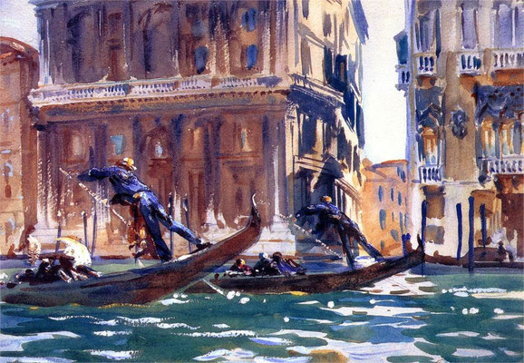John Singer Sargent, On the Canal (1903)