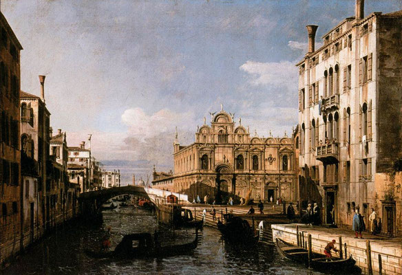 Bernardo Bellotto, Rio dei Mendicanti and the Scuola di San Marco