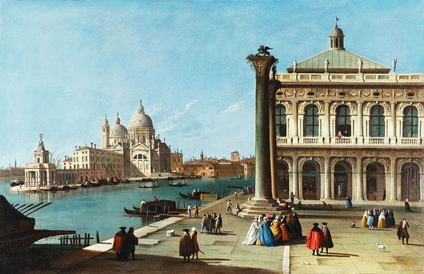 Canaletto, Entrata al Canal Grande con la Piazzetta e la Basilica della Salute