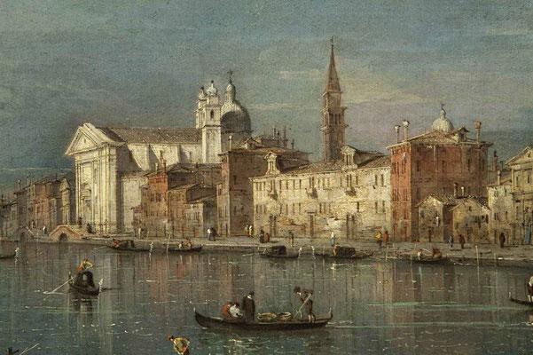 Francesco Guardi, Veduta del canale della Giudecca verso le Zattere