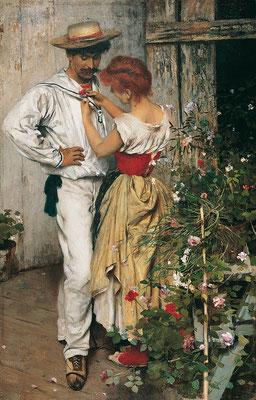 Ettore Tito, La mia rossa (1888)