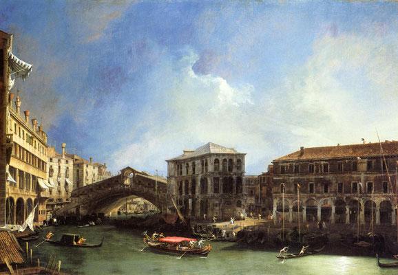 Canaletto, Canal Grande e Ponte di Rialto visto da Nord