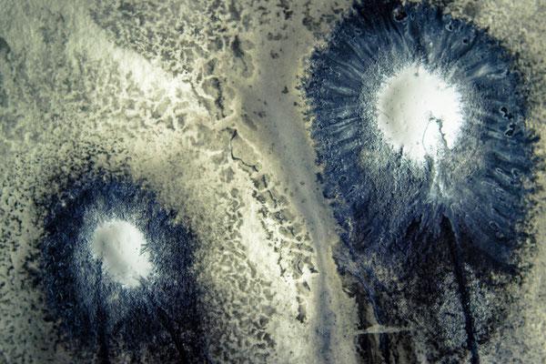 "016-041e-4, ""Still snow on top"", floating acrylics"