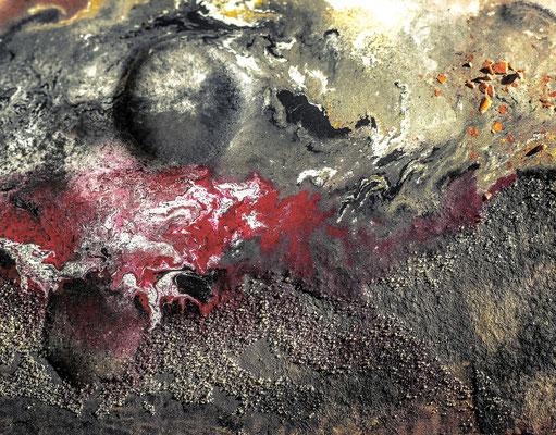 2015-206-2, untitled, acrylics +mixed media + glue on hardboard