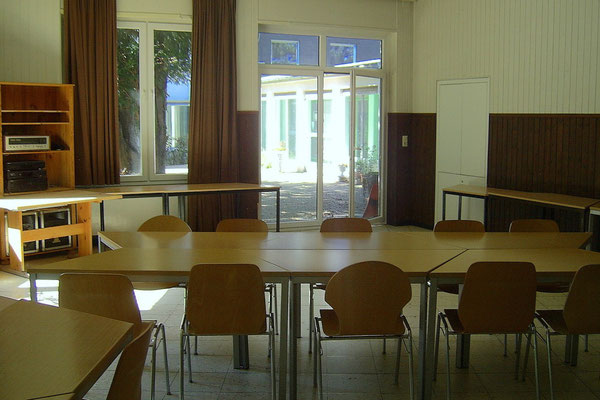 Seminarraum im Nebentrakt des Mahatma Gandhi Hauses