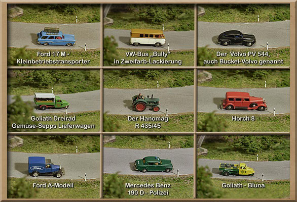 So toll können Modellautos (im Maßstab 1:160) aussehen! Alle abgebildeten Modelle (wenn nicht ausdrücklich anders bezeichnet): Marks.
