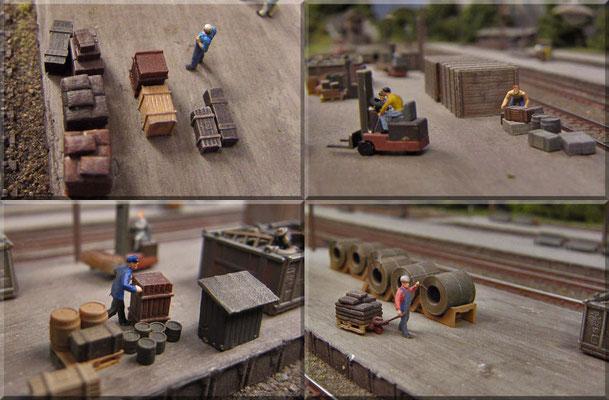Güterumschlag. In und um die Waldbronner Güterhalle ist ganz schön was los. In der Epoche 3 wurden noch deutlich mehr Güter mit der Bahn transportiert als heutzutage.